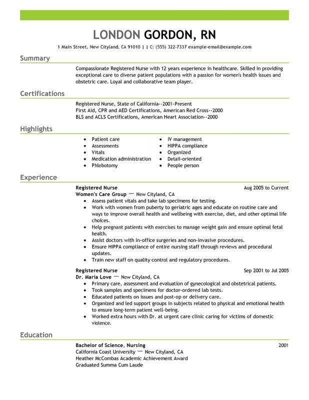 Lpn Resume Sample Licensed Practical Nurse Resume Sample Registered Nurse Resume Sample Work Pinterest