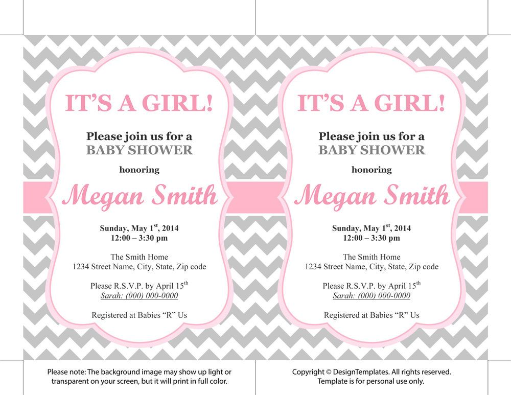Invitations Templates Printable Free Wedding Ideas Pinterest - baby shower invite template free