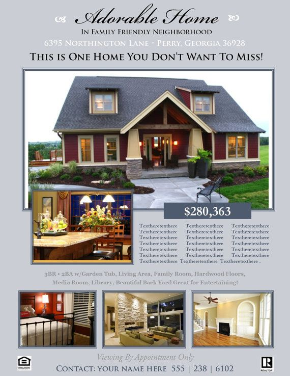 REAL ESTATE FLYER OPEN HOUSE OR FOR SALE FLYER FOR SALE BY OWNER - microsoft templates for flyers