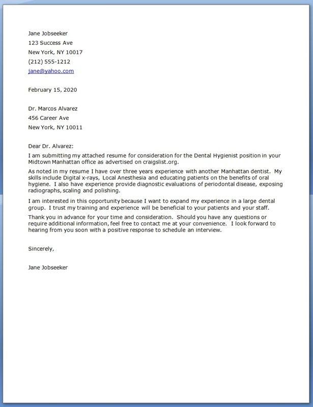 Dental Hygiene Cover Letter Creative Resume Design Templates - sample dental hygiene resume
