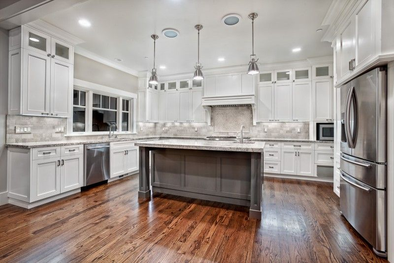 The floors, the island, the lighting, the cabinetrywe canu0027t - white kitchen cabinets