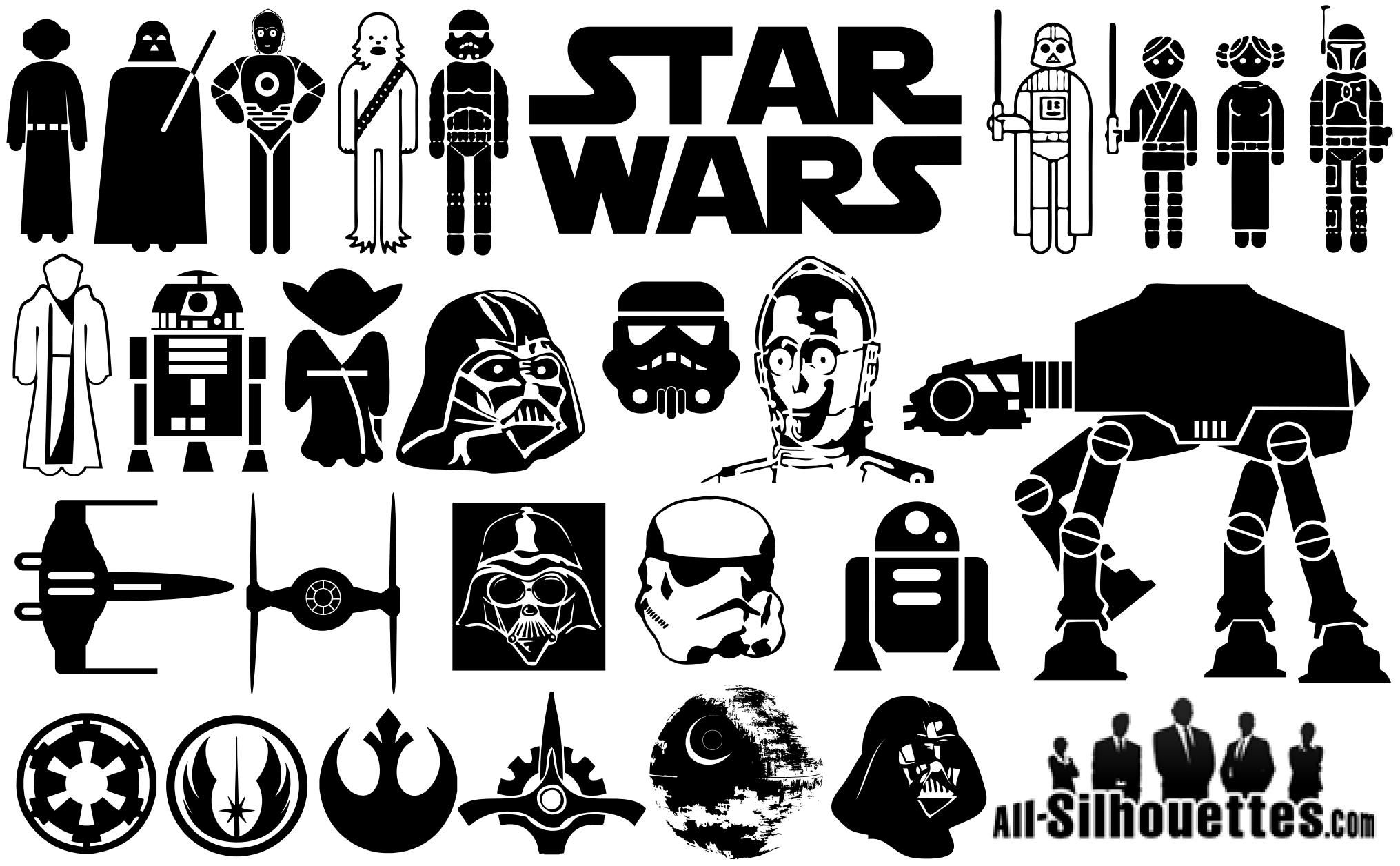 Plotterdatei Star Wars Star Wars Silhouette Clip Art Cliparts