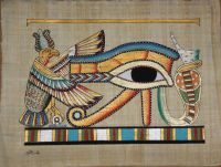 """Wall Art Egyptian Papyrus """"The Eye of Hours"""" Hand Painting ..."""