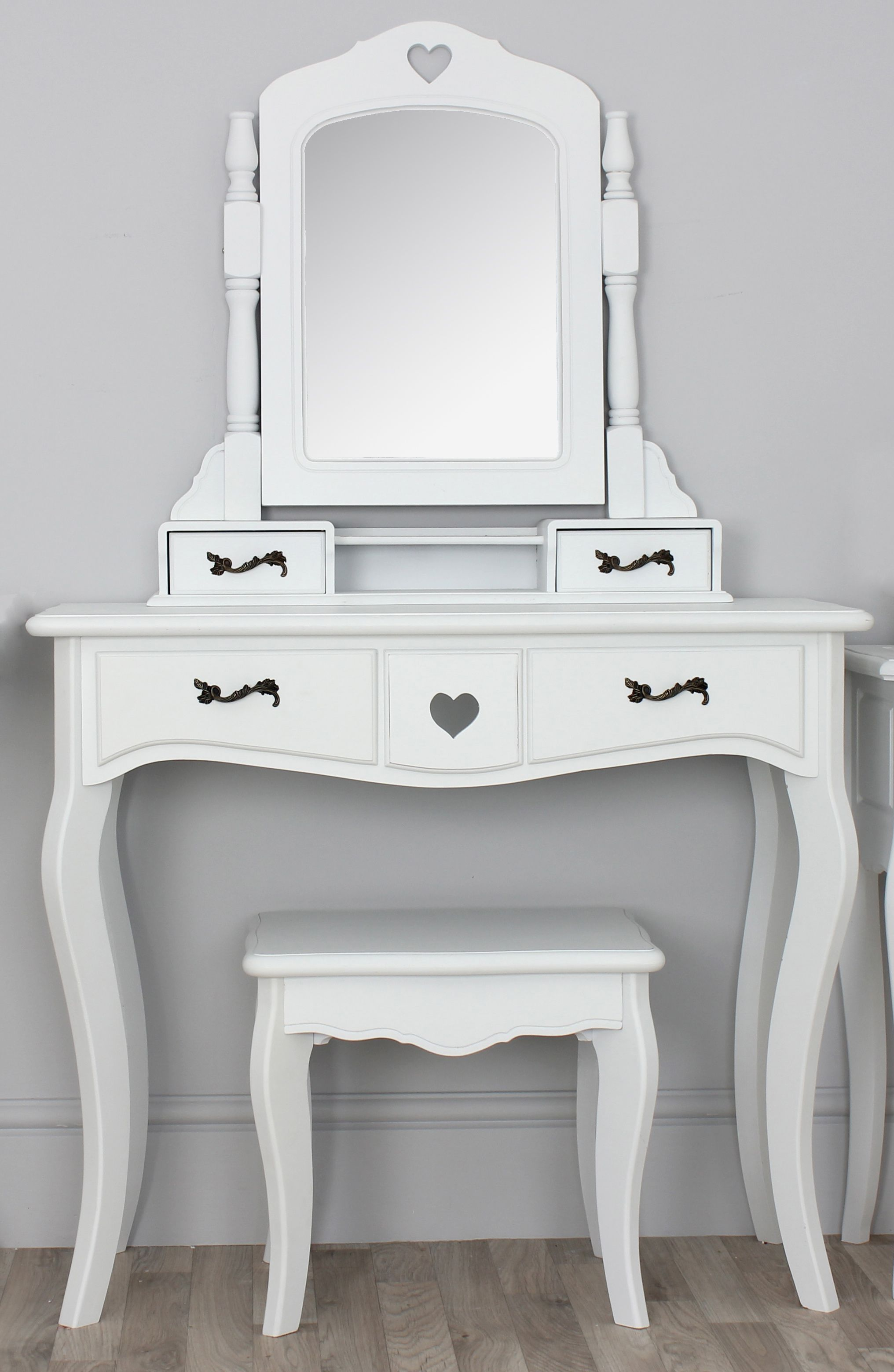 Small Vanity Dressing Table Narrow White Vanity Table With Four Drawers And Spinning