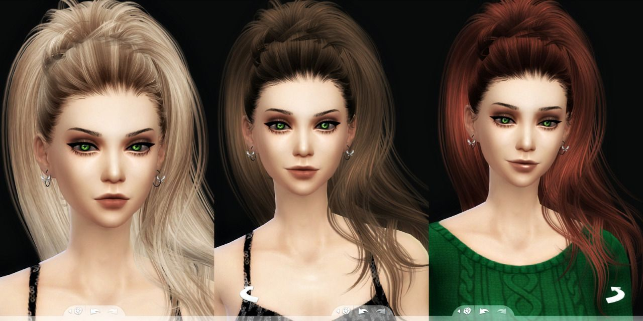 Aphrodite hair for the sims 4