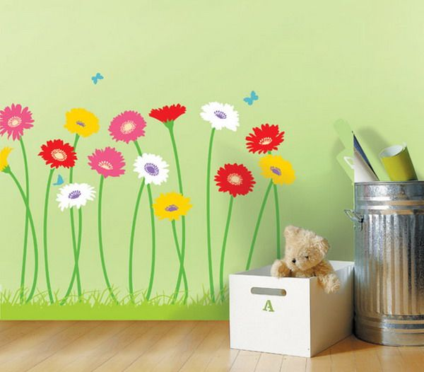 Artistic Flower Wall Mural Design for girls room? Can I do this - artistic wall design