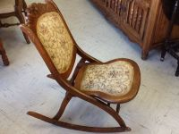 Vintage Victorian wood folding rocking chair by ...