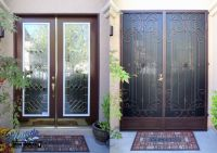 Before & After installation of wrought iron security ...