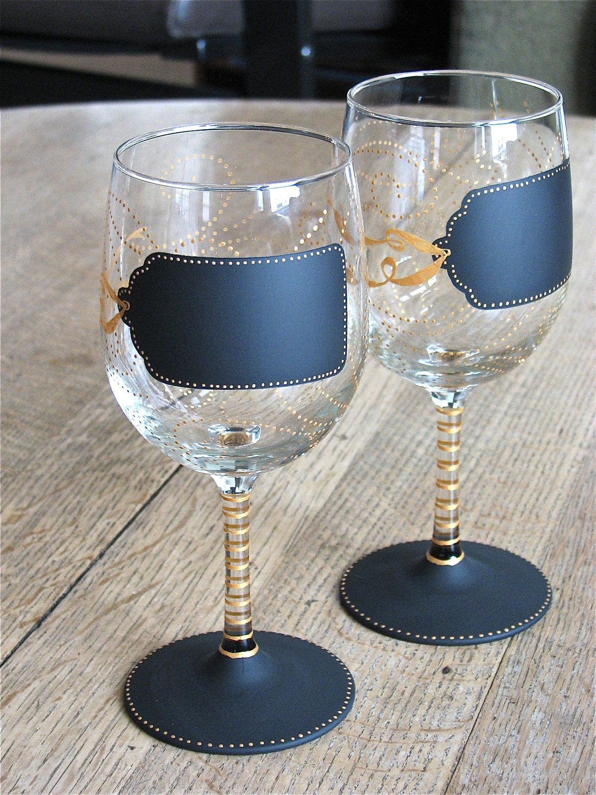 Hand Painted Wine Glasses Wholesale Hand Painted Chalkboard Wine Glasses From Chic Chalk
