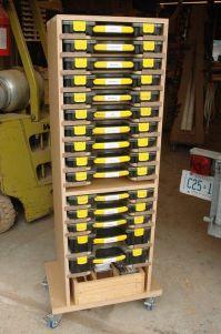 Mobile Modular Small Parts Rack - Inexpensive Adam Savage ...