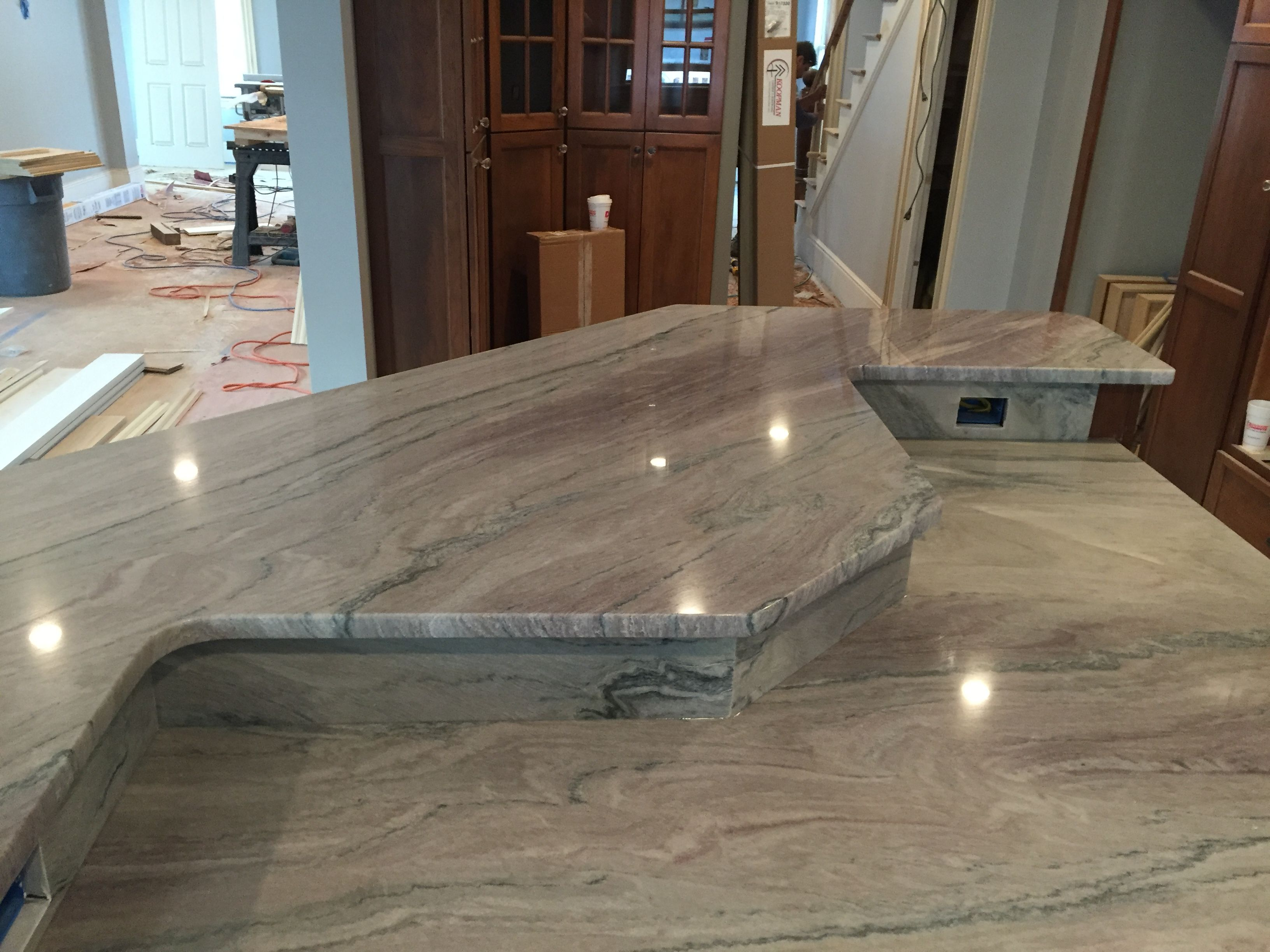 Granite Countertops Massachusetts Kitchen Countertops Fantasy Macaubas Quartzite Stone