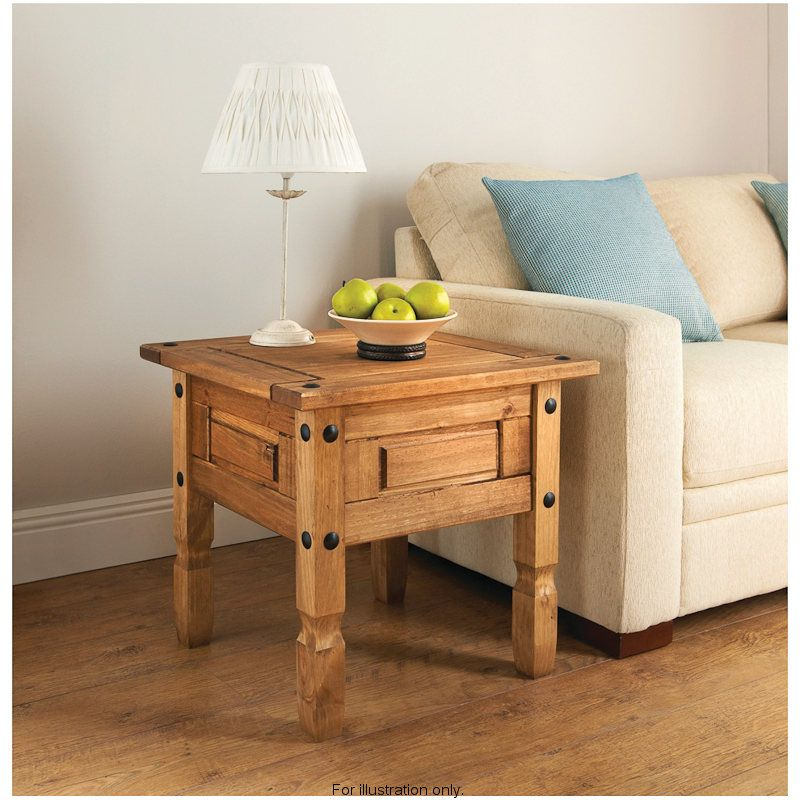 Rio Lamp TableSolid Natural Waxed Pine furnitureFeatures a - lamp tables for living room