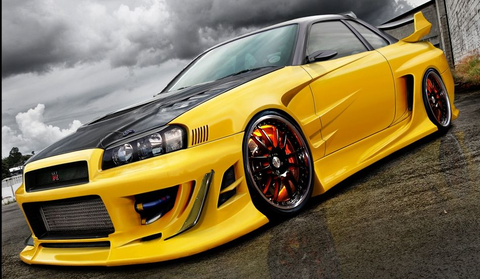 Amazing Car Wallpapers For Desktop Nissa Skyline R34 Gtr Custom Nissan Skyline Gtr V Spec Ii R 34 199 Ars