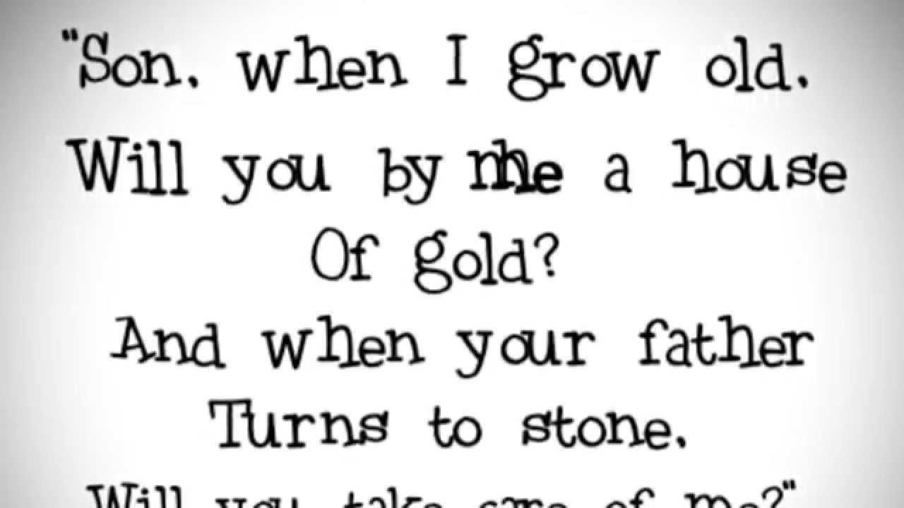 kitchen sink lyrics House Of Gold Twenty One Pilots Lyrics on screen