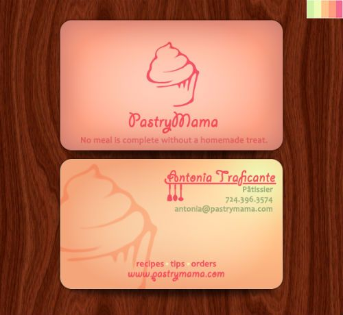 20 Examples of Bakery Business Cards Design Inspirations - name card example
