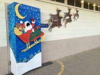 Santa sleigh photo booth. This was for our high-school ...