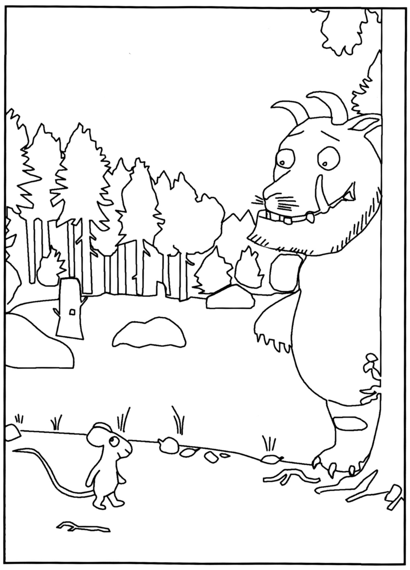 Explore the gruffalo colouring pages and more