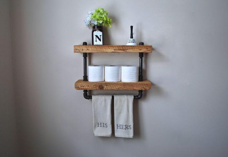 Large Of Wood Bathroom Shelf