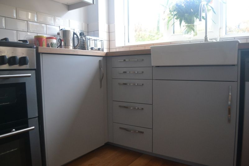 My Completely Renovated Kitchen With Ikea Veddinge Grey Fronts Karlby Worktop And Domsjo Sink