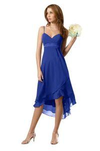 Chiffon Cobalt Blue Bridesmaid Dresses TET126 | Britton's ...