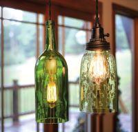 750ml Wine bottle pendant light and Open bottom quart ...