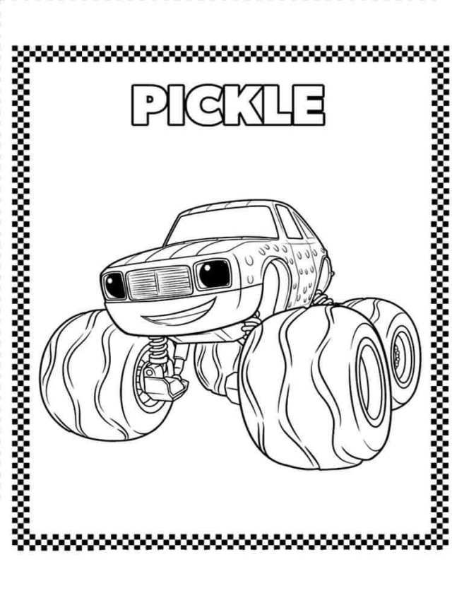 blaze and the monster machines coloring pages 7 auto electrical