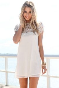 Short White Dresses With Sleeves