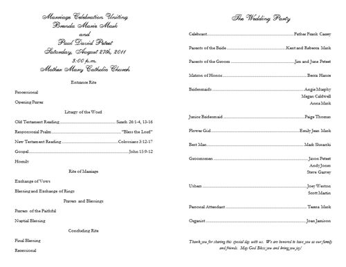 Wedding Program Templates Free -African Program Samples - sample program templates