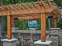 Outdoor TV Area: This is one of two outdoor TVs in the ...