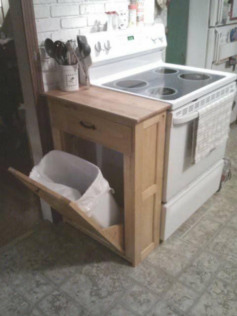 Hidden Trash Can kitchen Pinterest Kitchens, House and Bath - kitchen trash can ideas
