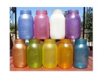 √ Elmer\'s glue and food coloring! Painting Glassware