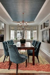 Gorgeous dining room ~ ceiling paint color to match the ...