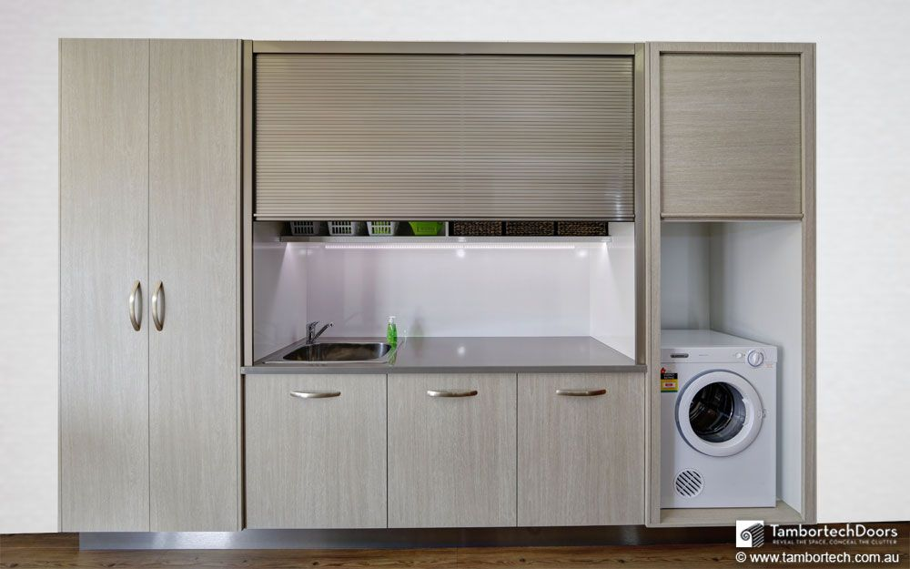 Laundry Doors & Closet Laundry Room Stacked Washer And