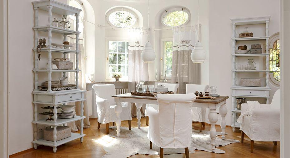 Romantisches Esszimmer im beliebten Landhausstil Dining Room - esszimmer im landhausstil