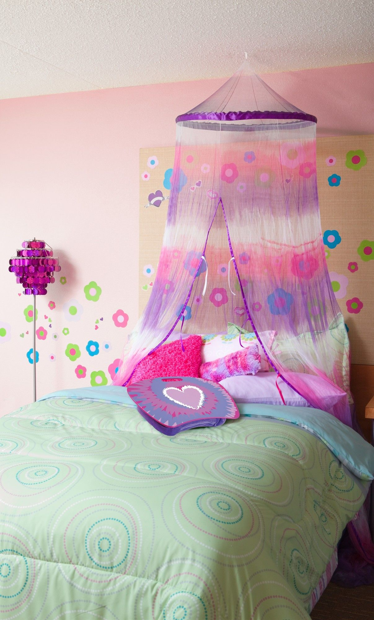 Little Girl Canopy Bed Ideas Purple And Pink Tie Dye Bed Canopy For Girls Purple