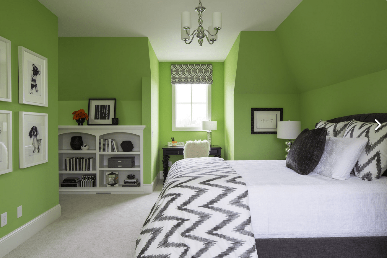 Black White And Green Bedroom Use Sherwin Williams 39 Lime Rickey Paint Color For Your
