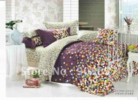 500 thread count yellow blue red purple polka dot pattern