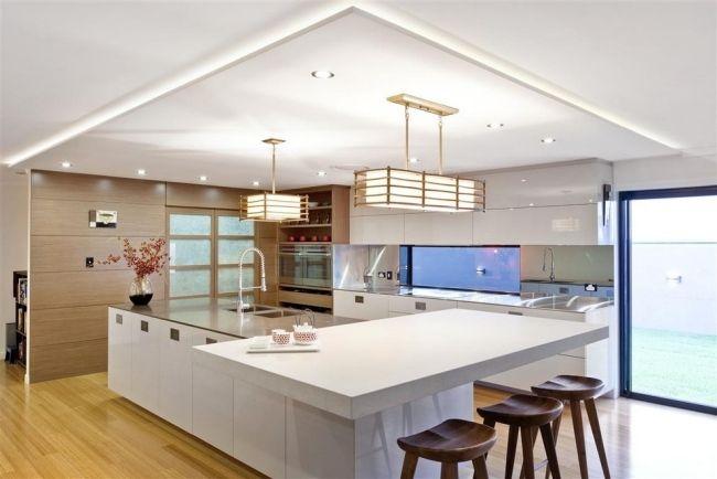 indirekte beleuchtung küche decke kochinsel pendelleuchten KÜche - kuche beleuchtung
