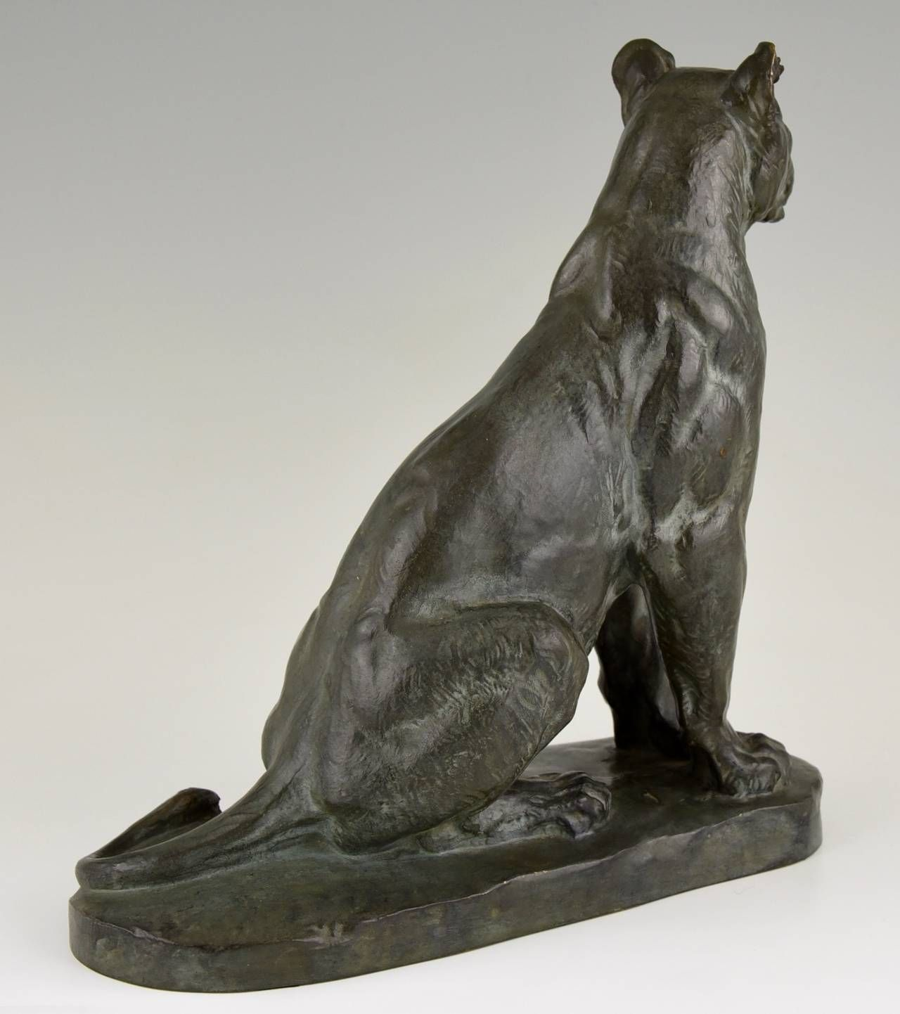 Panther Statue For Sale French Bronze Panther Sculpture By Charles Valton 1910