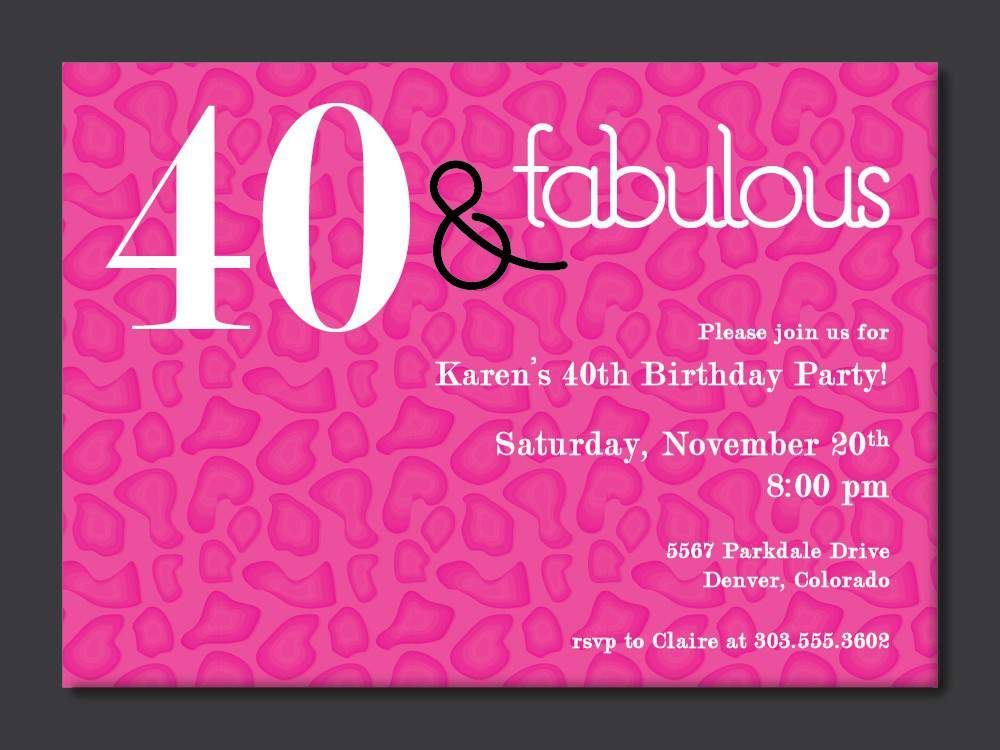 40th Birthday Free Printable Invitation Template Birthday party - invitations samples for birthday