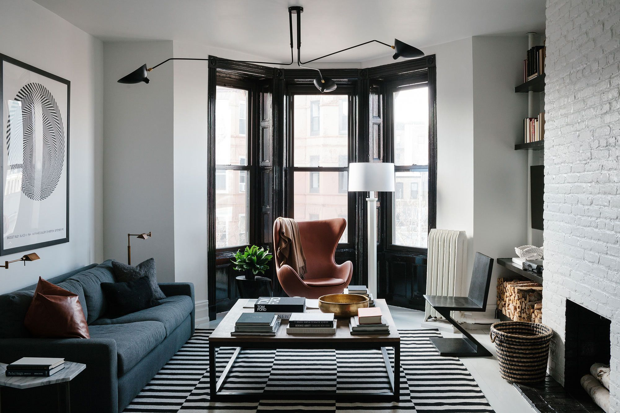 Masculine Living Room A Black And White Bachelor Pad In Brooklyn Masculine