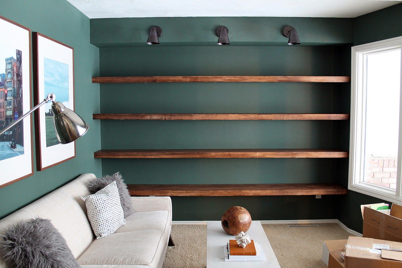 Unfinished Wood Wall Diy Solid Wood Wall To Wall Shelves Wood Walls Solid