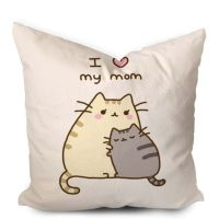 Pusheen Mothers Gift I Love Mom Pillowcase https://www ...