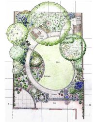 Designing garden layout. I'm loving the curves in this ...