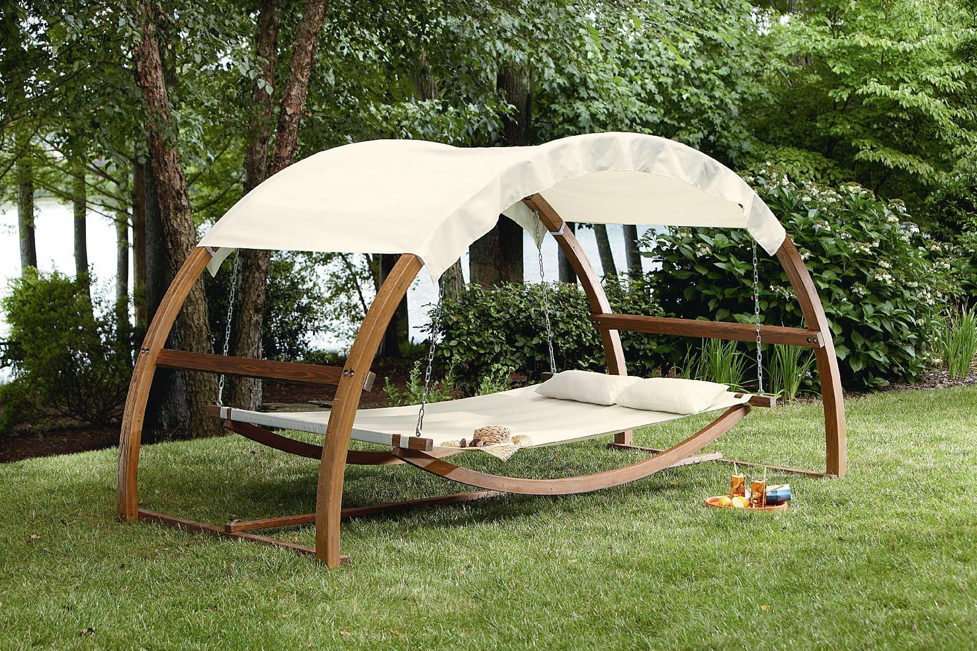 Garden oasis arch swing outdoor living