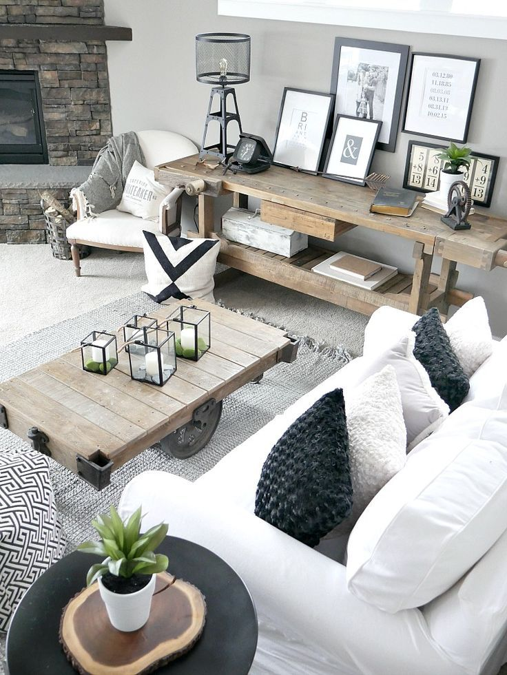 Bringing The Outdoors In Rustic modern living room, Rustic - farmhouse living room furniture