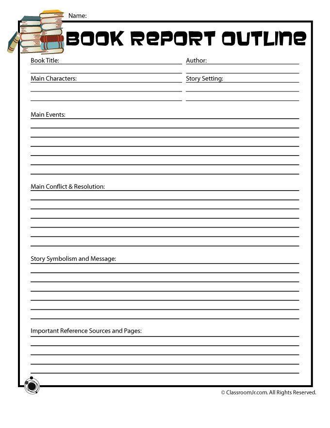 5th Grade Book Report Printables Printable Book Report Forms - printable book review template