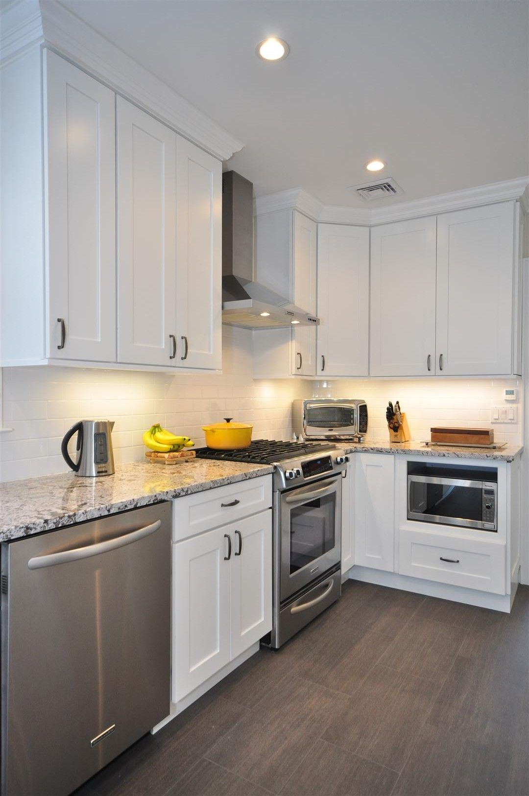 cheap white kitchen cabinets white shaker kitchen cabinets Gray Floor Gray Counter tops
