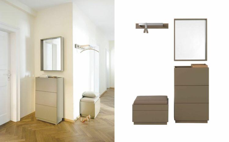 Ideen für Garderoben von Schönbuch in zwei Farbvarianten - garderoben ideen