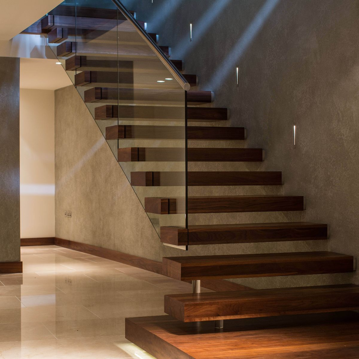 Modern Stair Case Canal Floating Contemporary Staircase Swetha Home
